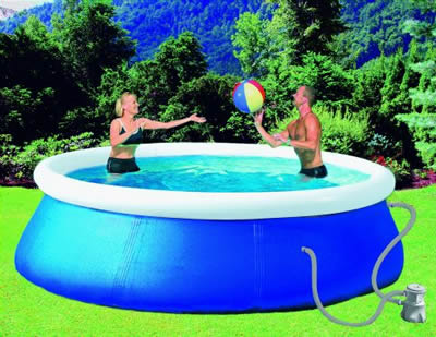 quick up pool set swimming pool schwimmbecken pumpe garten shop. Black Bedroom Furniture Sets. Home Design Ideas